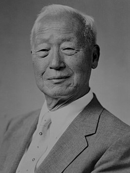 Syngman Rhee First–Third President of South Korea, from 1948 to 1960