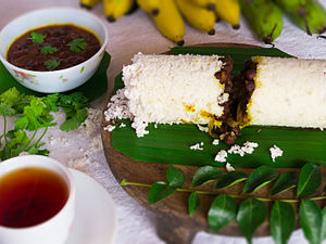 Puttu - Rice Puttu with Gram curry