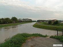 Trnávka v trebišove počas záplav v roku 2005