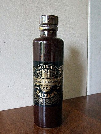 Riga Black Balsam - Riga black balsam in its traditional small ceramic bottle