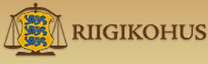 Supreme Court of Estonia - Image: Riigikohus logo