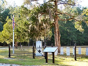 Rivers Bridge State Historic Site - Image: Rivers Bridge Confederate Cemetery with Flag