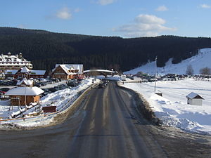 Donovaly - Image: Road 59 in Donovaly