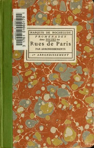 File:Rochegude - Promenades dans toutes les rues de Paris, 1.djvu