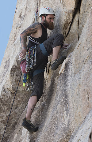 Traditional climbing - Trad climber in Joshua Tree National Park