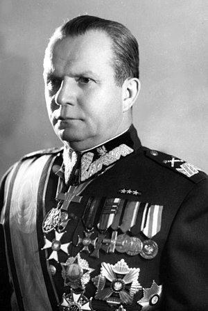 Michał Rola-Żymierski - Michał Rola-Żymierski as Marshal of Poland