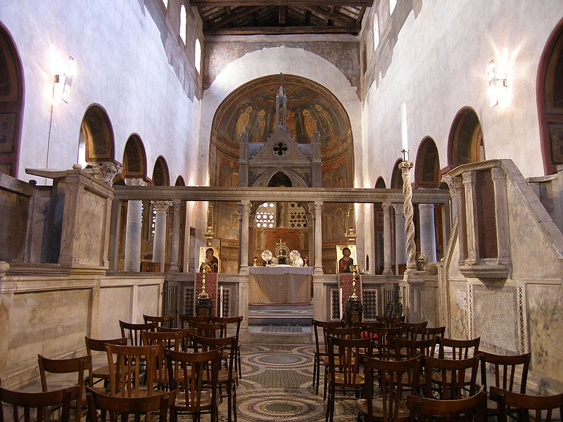 File: Rom, Santa Maria in Cosmedin, Innenansicht.JPG