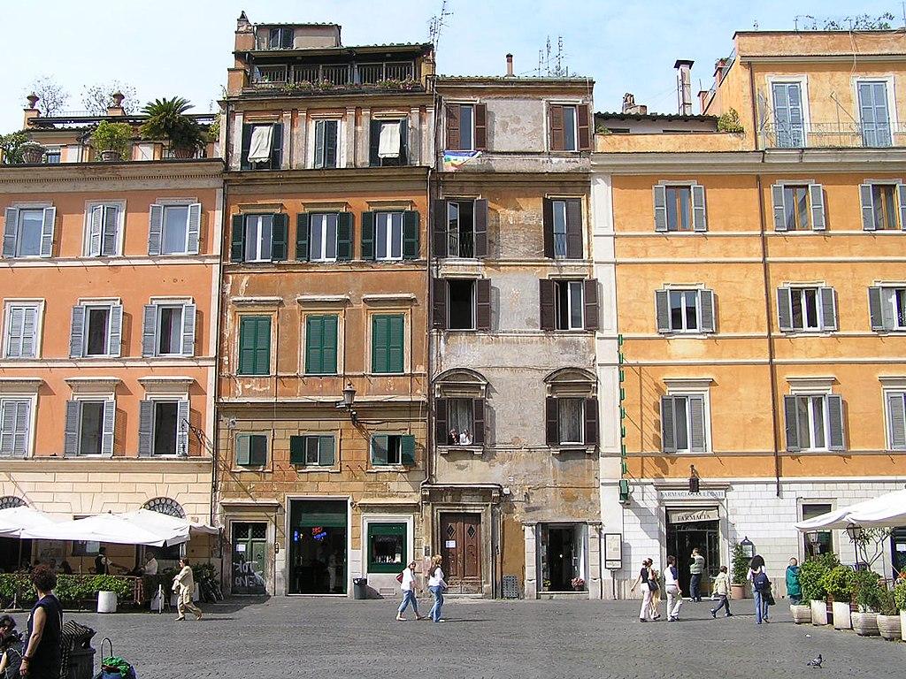 Façades du quartier du Trastevere à Rome - Photo de Damouns (Damien Boilley)