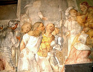 Frescos of Daniel dragged before Nebuchadnezza...
