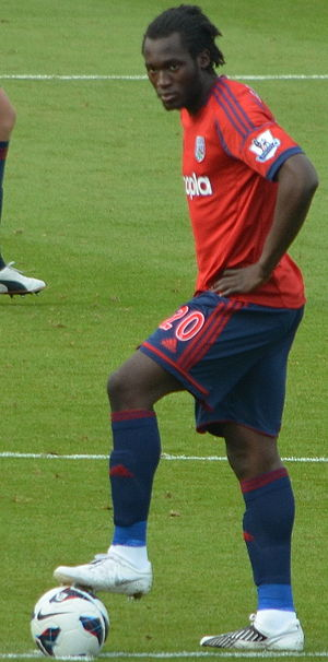 Romelu Lukaku - Lukaku playing for West Bromwich Albion in 2012