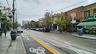 Roncesvalles, Toronto - Roncesvalles Avenue, looking north from Grenadier Road