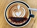Rosetta latte art at Botellon Restaurant, Graceville, Queensland.jpg