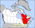 Rougemont Quebec map.png