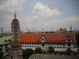 Royal Thai Navy HQ, view form Phra Prang of Wat Arun.jpg