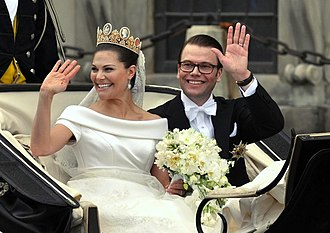 Victoria, Crown Princess of Sweden - The Duchess and Duke of Västergötland on their wedding day
