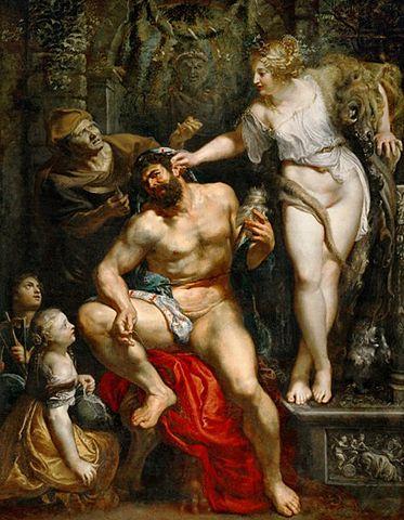 Геркулес и Омфала. Около 1602—1605, 278 × 215 см. Париж, Лувр