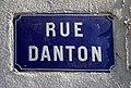 Rue Danton (Lyon) - plaque de rue.jpg