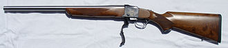 Action (firearms) - Ruger No. 1 single-shot falling-block rifle with action open
