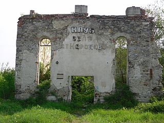 Ruins of New Synagogue in Korolevo (Kiralyhaza).jpg
