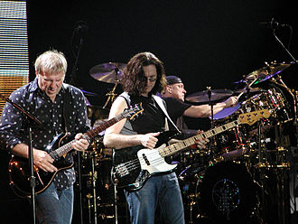 Hard rock - Rush on stage in Milan in mid-September 2004