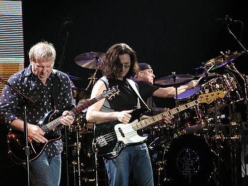 Rush on stage in Milan in mid-September 2004 Rush-in-concert.jpg