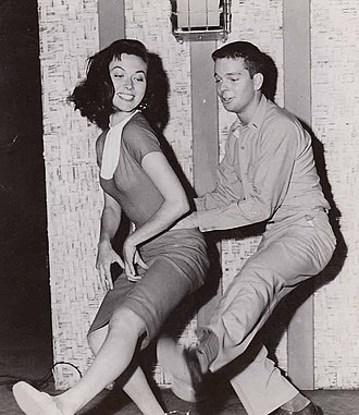 Gia Scala - Scala and Russ Tamblyn in Don't Go Near the Water (1957)