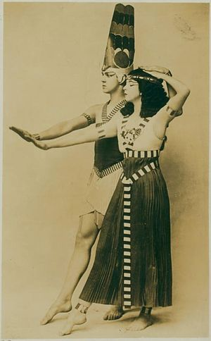 Ted Shawn - Ted Shawn and Ruth St. Denis in Egyptian Ballet, ca. 1910.