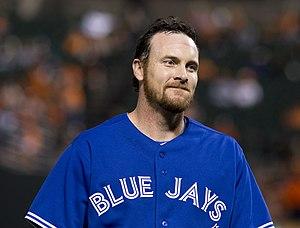 Ryan Langerhans - Langerhans with the Toronto Blue Jays