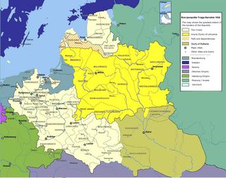 Treaty of Hadiach - Polish–Lithuanian–Ruthenian Commonwealth 1658.