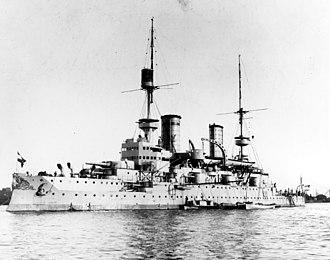 SMS Kaiser Friedrich III - Kaiser Friedrich III photographed in 1900