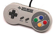 The Super NES controller in Europe, which is the same as the Japanese Super Famicom one except for branding.