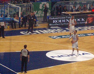 Free throw - Vassilis Spanoulis taking a free throw