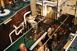 Engine room - Image: SS Shieldhall engine room