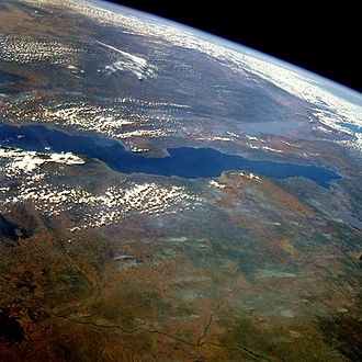 Lake Tanganyika - Lake Tanganyika from space, June 1985