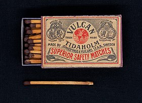 Safety matches Vulcan Superior Safety Matches Bicolor.jpg