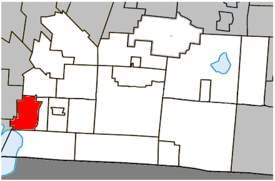 Location within Brome-Missisquoi Regional County Municipality.