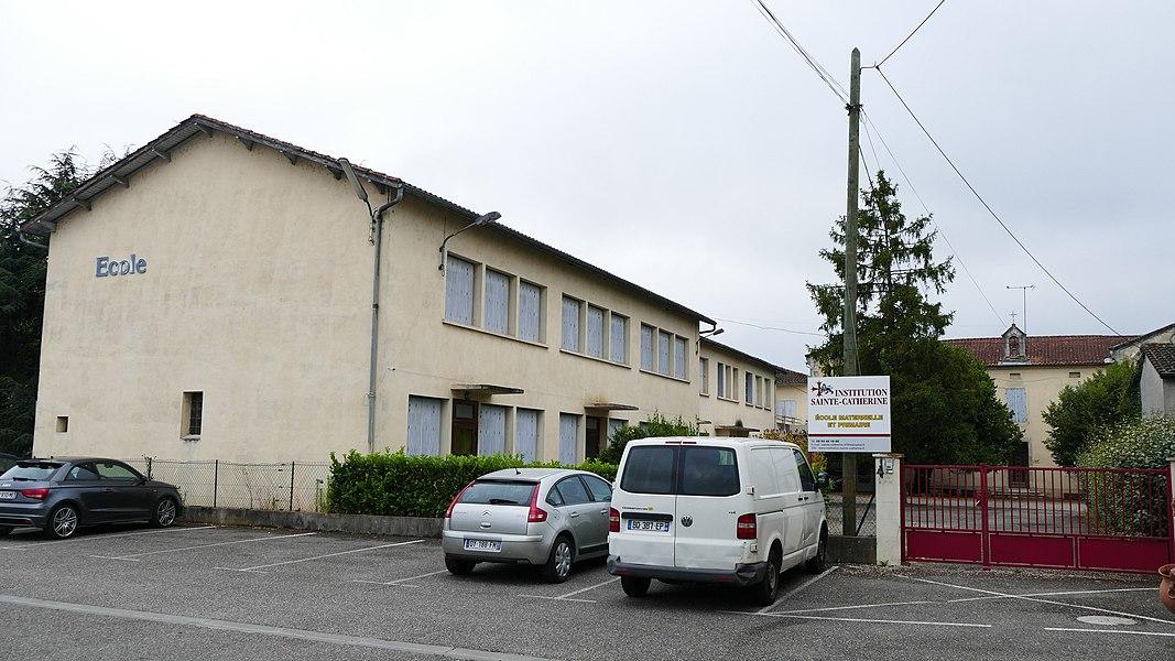 Saint-Catherine's school in Saint-Sylvestre-sur-Lot (Lot-et-Garonne, Aquitaine, France).