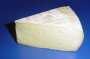 Brined cheese - During the aging process, Saint-Nectaire is twice washed in brine and aged on rye straw.