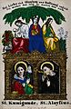 Saint Cunegunda and Saint Aloysius Gonzaga; above them the f Wellcome V0033357.jpg