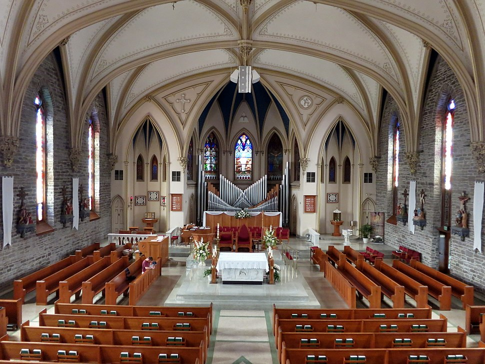 Saints Peter and Paul Roman Catholic Church (Sandusky, Ohio) - view from the loft