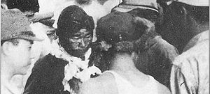 Tainan Air Group - Saburō Sakai, seriously wounded by a bullet which creased his skull, arrives back at Rabaul on August 7.