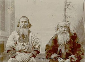 Ainu in Russia - Sakhalin Ainu men, photographed by Bronisław Piłsudski