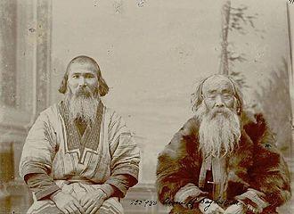 Ainu in Russia - Sakhalin Ainu men, photographed by Bronisław Piłsudski