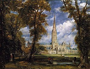 Salisbury Cathedral from the Bishop Grounds c.1825.jpg