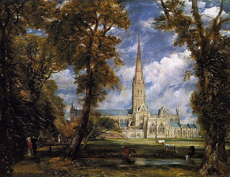 File:Salisbury Cathedral from the Bishop Grounds c.1825.jpg