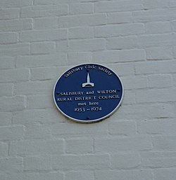 Salisbury and wilton council plaque