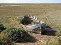 Salt marshes, Blakeney Channel and decaying boat - geograph.org.uk - 1516445.jpg