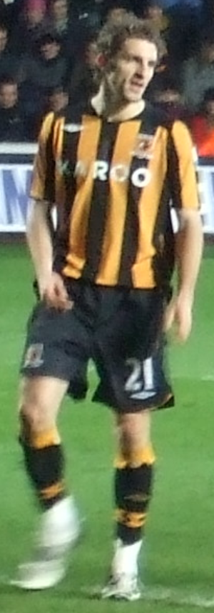 Sam Ricketts - Ricketts playing for Hull City in 2009