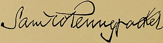 Samuel W. Pennypacker - Image: Samuel Whitaker Pennypacker (signature)
