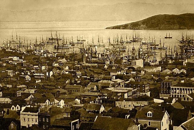 Port de San Francisco en 1851